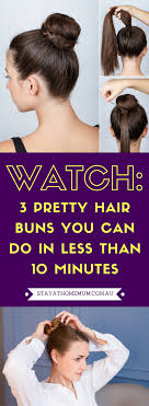 hair buns images 3 pretty hair buns you can do in less than 10 minutes