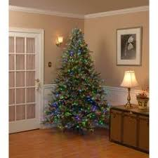 artificial christmas trees multi colored lights 9 ft dunhill fir artificial christmas tree with dual color led