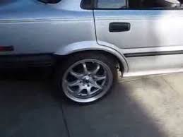 toyota corolla 15 inch rims 1992 toyota corolla 4 trying on some 16 inch rims on the