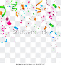 colorful celebration background confetti vector illustration stock