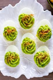 deviled eggs platter healthy deviled eggs with avocado recipe chefdehome