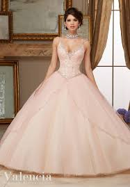 light pink quinceanera dresses quinceanera dress 60002 beaded lace bodice on princess tulle