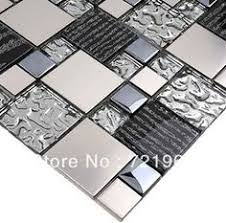 Glass Tiles For Kitchen Backsplashes Stone Silver Glass Tile Backsplash Kitchen Brick Pattern Mirror