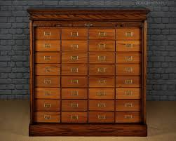 roll front 32 drawer office filing cabinet c 1910 antiques atlas