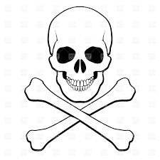 spooky symbols simple crossbones symbol vector image 8295 u2013 rfclipart