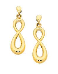 png gold earrings gold earrings yellow gold infinity earrings 758872 salera s