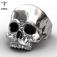 buy skull rings images Buy evbea big punk biker skull ring for man jpg
