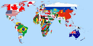 Flags Of The World Countries With Names Flags Of The World With Country Names Countries And Some Map