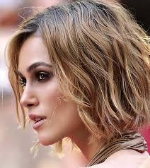 bob hairstyles u can wear straight and curly keira knightley wavy bob celebrity bob hairstyles pinterest