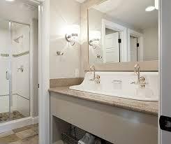 Double Trough Sink Bathroom Trough 4819 48 Inch Double Trough Drop In Concrete Bathroom Sink