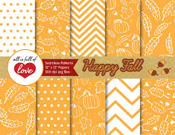 yellow thanksgiving digital paper fall backgrounds tillable