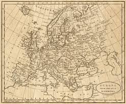 Map Of Europe 1800 by Baker Europe