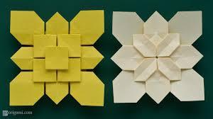 Origami Tessalation - clover and hydrangea tessellations by shuzo fujimoto go origami