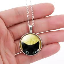 black cat pendant necklace images Unique vintage black cat pendant necklace luxe style shoppe jpg