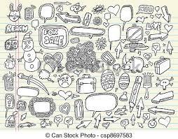 vectors of notebook doodle sketch vector set csp8697583 search