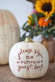 fall wedding guest book learn how to diy a pumpkin guest book