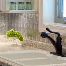 Fasade Kitchen Backsplash Adorable Silver Color Fasade Hammered Galvanized Steel Backsplash