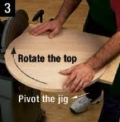 sanding a circle woodworking plans and information at