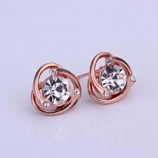 simple earrings design 1 3x1 3cm simple design mini rhinstone stud earrings with