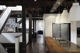 industrial kitchen design kitchen style hardwood flooring open shelves industrial hanging