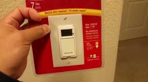 outdoor light timer instructions how to install honeywell econo switch programmable timer youtube