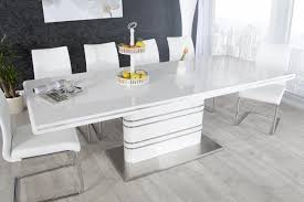 esstisch design ausziehbarer esstisch weiß hochglanz riess ambiente de