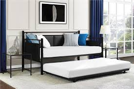Daybed With Mattress Dhp Furniture Astoria Metal And Upholstered Daybed And Trundle