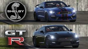 ford mustang gtr ford mustang gt350 vs nissan gt r top gear track battle