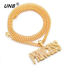 princess necklace images Unb 2017 new letter princess necklace gold color with crytstal jpg