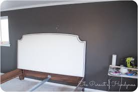 King Headboard Plans by Good King Upholstered Headboard With Nailhead Trim 79 On Free