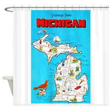 Of Michigan Curtains Michigan Shower Curtains Cafepress