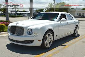 bentley mulsanne white used 2012 bentley mulsanne for sale fort lauderdale fl