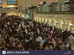 crowd in line for tickets at grand central terminal