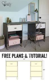 Diy Office Desks Desk Diy Office Desk Plans