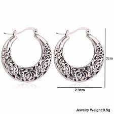 metal earings silver metal vintage antique earings for women bfme in