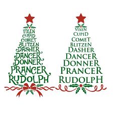 reindeer names tree cuttable design