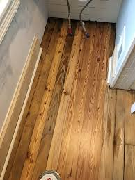 Laminate Flooring Moulding Finishing The Bathroom Floor And Focusing On The Trim Old Town Home