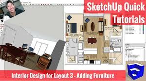 sketchup interior design for layout part 3 adding furniture