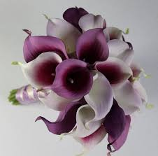 purple bouquets wedding bouquet purple calla lilly bouquet bridal bouquet purple