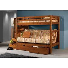 Bunk Beds And Lofts Donco Kids Stairway Loft Bunk Bed With Storage Drawers U0026 Reviews