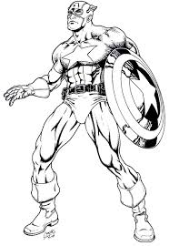 Captain America Coloring Pages Avengers Coloring Pages 9 Captain America Coloring Page