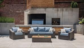new boston wicker patio lounge chairs denim blue 2 pack u2013 la z