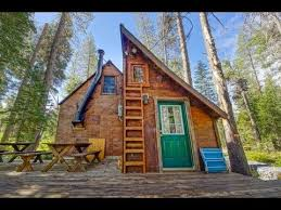 Small House Cabin Riverfront Tiny Cabin In California Woods Great Small House