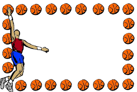 basketball clipart images basketball border paper free best basketball border