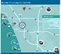 Los Angeles City Map Los Angeles California Language Academy