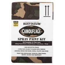 rust oleum camouflage 6 pack spray kit walmart com
