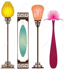 chinese antique floor lamp royalty free cliparts vectors and
