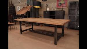 industrial dining room table industrial dining table youtube