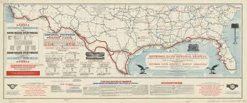 Southeastern United States Road Map by Southern United States 1916 American Geographical Society