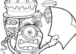18 coloriage images coloring minion birthday